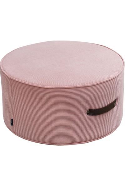 Hamm Tasarım Davul Puf - Pastel Pembe 60CM