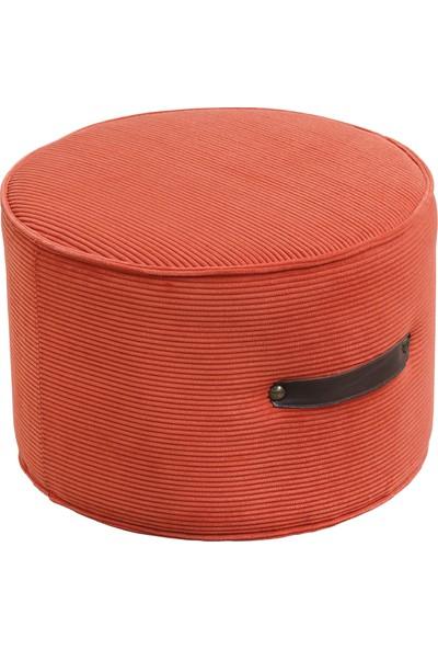 Hamm Tasarım Davul Puf - Pastel Kırmızı 45CM