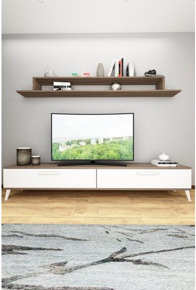 Wood House Lodos Tv Ünitesi-Ceviz