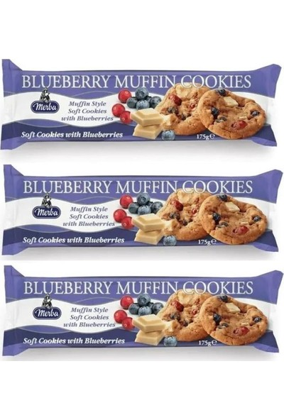Soft Blueberry Muffin Cookies 175 G x 3