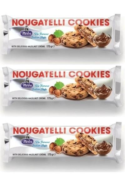 Nougatelli Cookies 175 G x 3