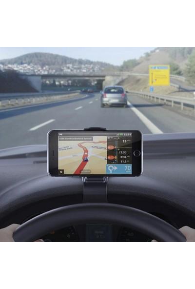 Buffer 360 Derece Dönebilen Torpido Konsol Üzeri Araba Araç Cep Telefon Gps Navigasyon Sabitleyici Tutucu
