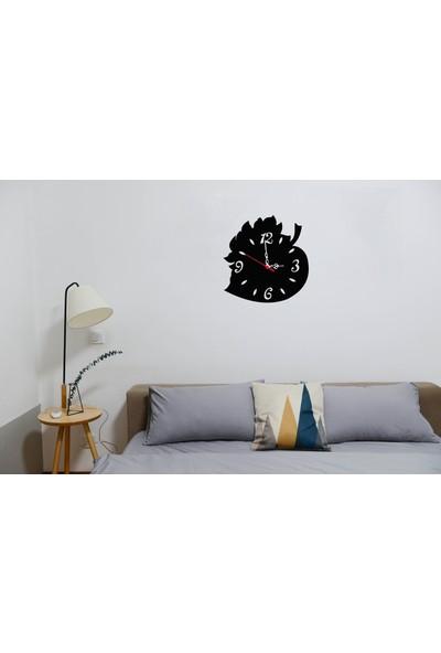 Newnow Dekorasyon Yaprak Desenli Duvar Saati