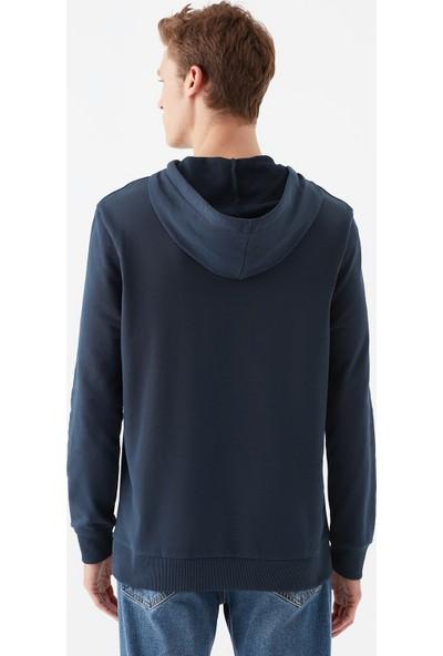 Mavi Erkek Mavi Logo Baskılı Kapüşonlu Lacivert Sweatshirt 065606-28417