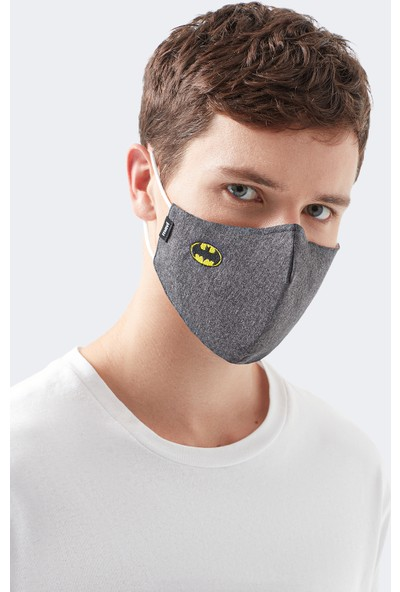 Mavi Erkek Batman Baskılı Yıkanabilir Telli Yüz Maskesi 092614-32162