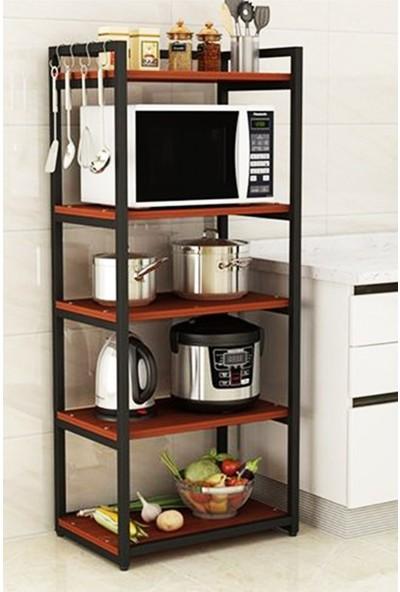 Lacivert Mimarlık 60*160*40 Bade Mutfak Düzenleyici Açık Raf Ceviz