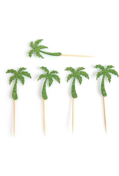 Kullanatparty Yeşil Palmiye Ağacı Parti Sunum Kürdanı