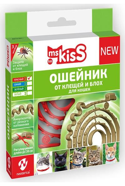 Ms Kiss Kediler Için Parazit Kovucu Yaka Kırmızı