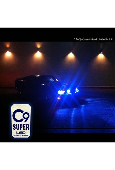 C9 Ultra Deli Mavi LED Xenon Soğutuculu Far Ampulü 9400 Lümen 15000K H4