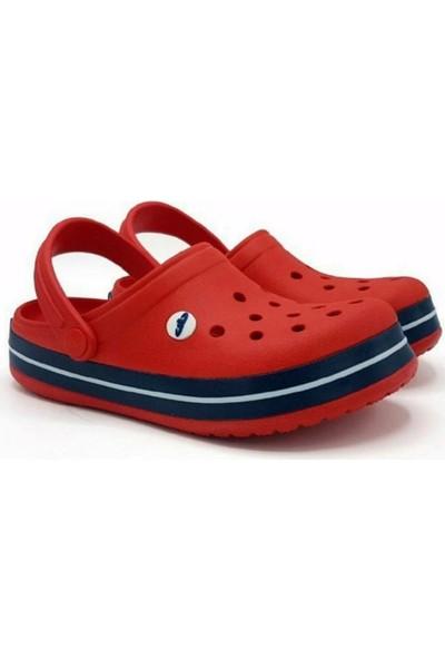 Akınalbella Doremor Kırmızı Lacivert Sabo Crocs Modeli Terlik Hastane Terliği Hemşire Doktor Terliği