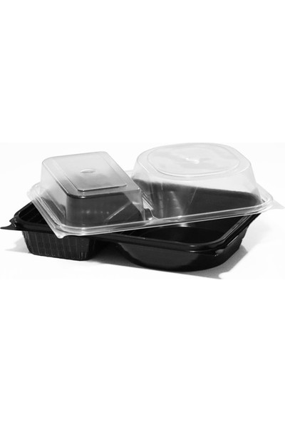 Özge Plastik 2 Bölmeli Hamburger Seti - 180'LI