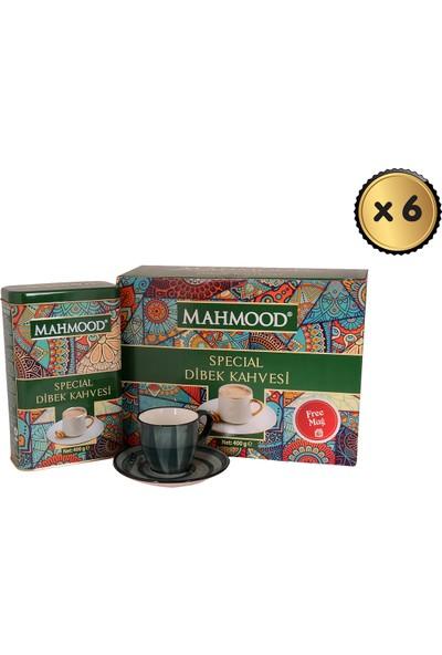 Mahmood Coffee Dibek Kahvesi + Fincan 400 gr x 6 Paket (1 Koli)