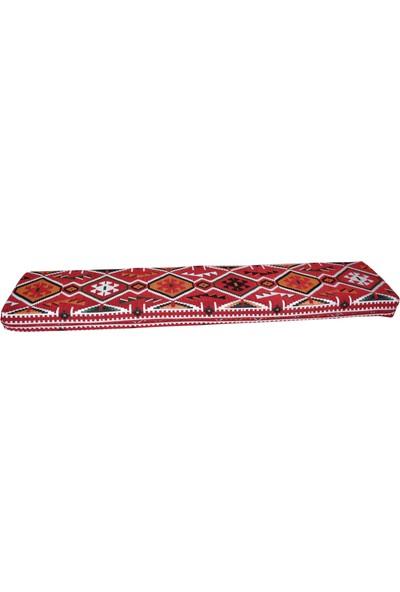 Bolvadin Şark Köşesi MND306-401 Şark Köşesi Kırmızı Halı Desenli Minder 120X40X10 cm