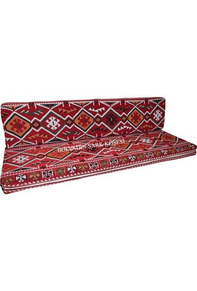 Bolvadin Şark Köşesi MTK407-401 Şark Köşesi Kırmızı Halı Des. Ikili Minder Tk. 140LIK
