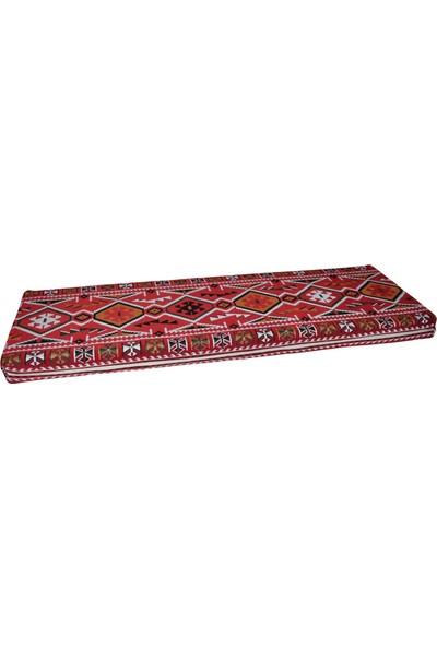 Bolvadin Şark Köşesi MND307-401 Şark Köşesi Kırmızı Halı Desenli Minder 140X60X10 cm