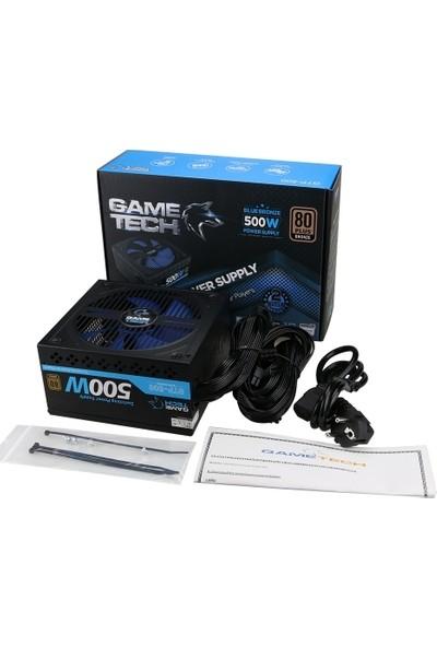 Gametech GTP-500V2 500W 80 Plus Bronze 14CM Fan Power Supply Pc Güç Kaynağı