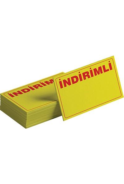 On Roll Paper Kuşe Yatay A4 Sarı ''indirim'' Etiketi 1000 Adet