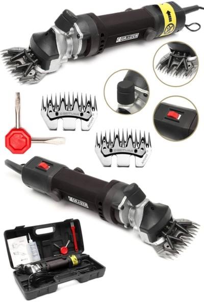 Graizer Alman 1600 Watt Metal Şanzuman Koyun Keçi Kirkma Kirpma Makinesi + 2 Takim Yedek Bıçak Hediyeli Siyah