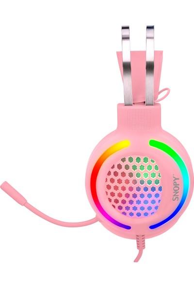 Snopy SN-GX82 Pınky 3,5mm Gaming Oyuncu Mikrofonlu Kulaklık