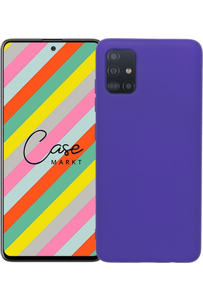 Case Markt Samsung Galaxy A51 Silikon Telefon Kılıfı Mikro Fiber Iç Yüzey