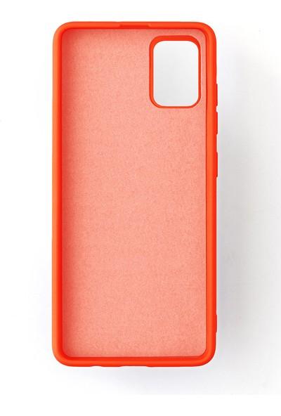 Case Markt Samsung Galaxy A71 Silikon Telefon Kılıfı Mikro Fiber Iç Yüzey