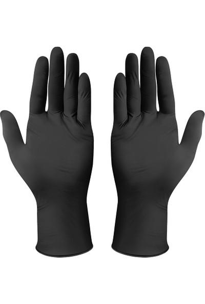 Has-Pet Nitril Pudrasız Eldiven Siyah 100'lü - L