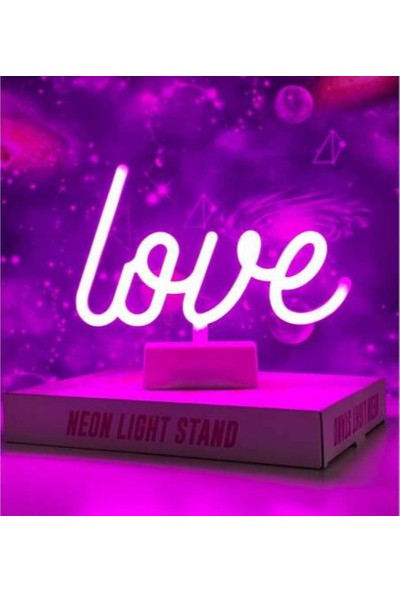 Love Yazılı Neon LED Gece Lambası
