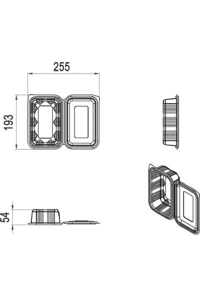 Limera - Düz Kapak Sızdırmaz 750 cc - 100'LÜ