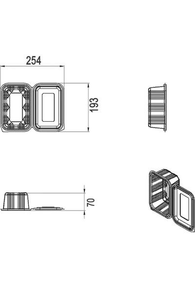 Limera - Düz Kapak Sızdırmaz 1000 cc - 100'LÜ