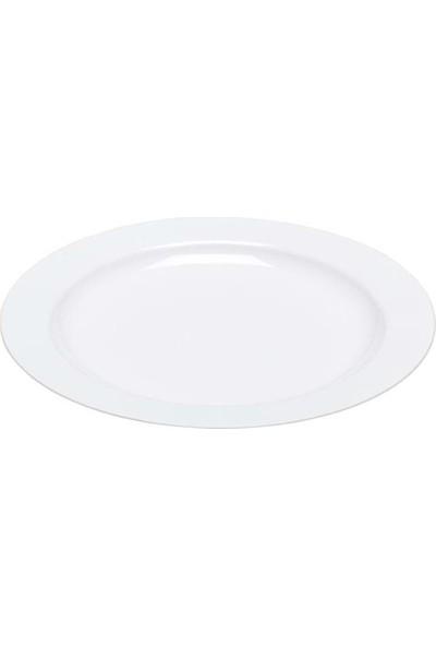 Rubikap Plastik Beyaz Tabak 26 cm - 10'lu