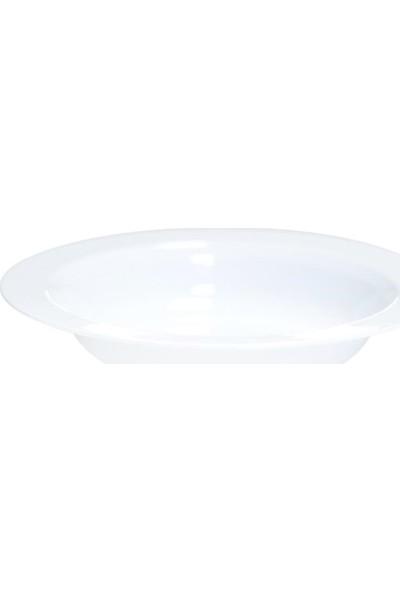 Rubikap Beyaz Çukur Tabak 19 cm - 10'lu