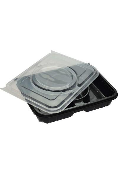 Özge Plastik Özge - 3 Bölmeli Kapaklı Servis Seti - 75'li