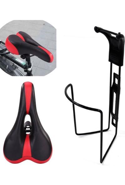 Tvet Konforlu Sportif Bisiklet Sele Koltuğu ve Suluğu Aparat 2 Li Set
