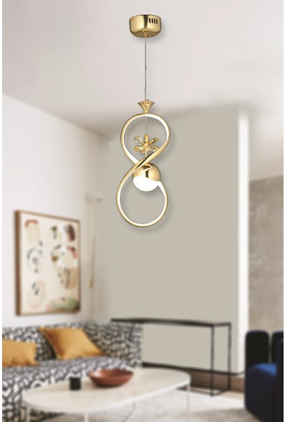 Luna Lighting Modern Luxury Sarkıt LED Avize Gold Sarı