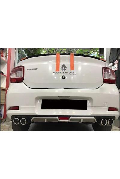 Boğaziçi Renault Symbol Gri Reflektörlü Arka Difüzör -4 Egzozlu Difrizör-