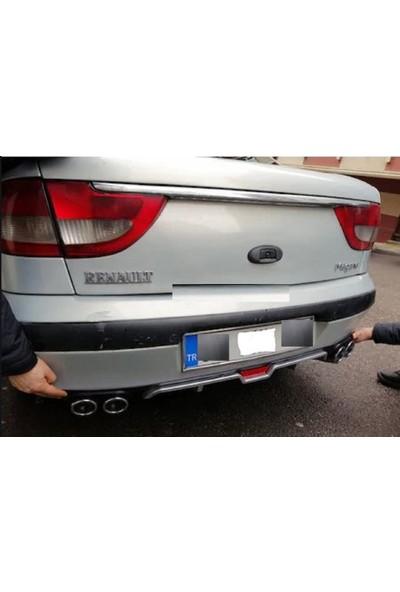 Boğaziçi Renault Megane 1 Gri Reflektörlü Arka Difüzör -4 Egzozlu Difrizör-