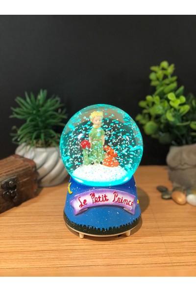 Çiko Toys Küçük Little Prens Püskürtmeli Müzikli ve Işıklı Büyük Boy Kar Küresi