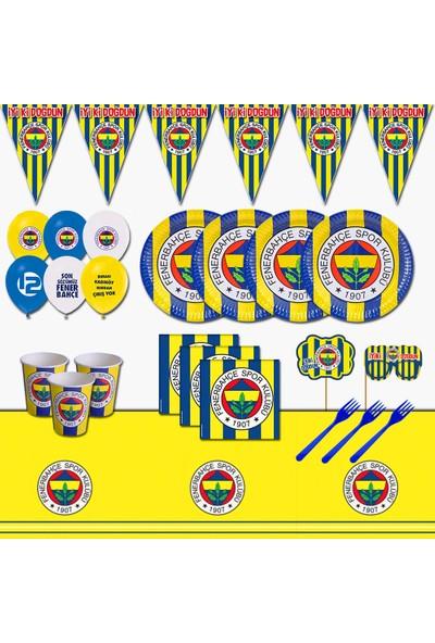 Fenerbahçe Taraftar 24 Kişilik Doğum Günü Parti Malzemeleri Seti