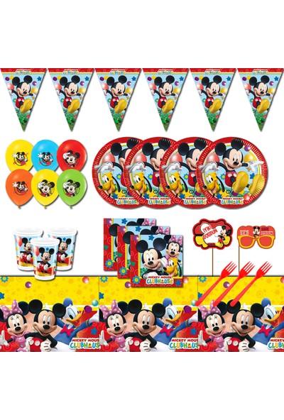 Mickey Mouse 8 Kişilik Doğum Günü Parti Malzemeleri Seti