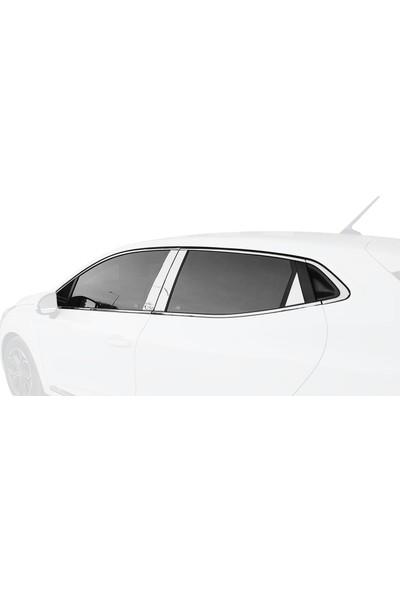 AccessoryPart Renault Clio 5 Cam Çerçeve ve Kapı Direği Krom Seti 2020 Model ve Sonrası 18 Parça