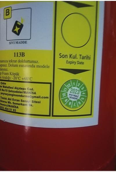 Poyraz 2 kg Yangın Söndürme Tüpü- 2 Yıl Garantilidir.bar Basınç Göstergesi Mevcuttur.
