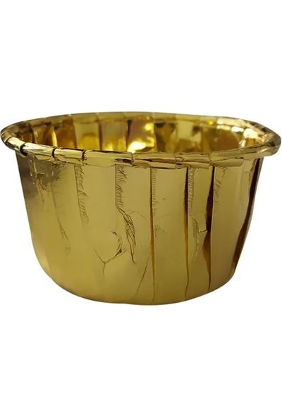Kullanatparty Metalize Cupcake Kek Kapsülü Altın Renk-50 Adet