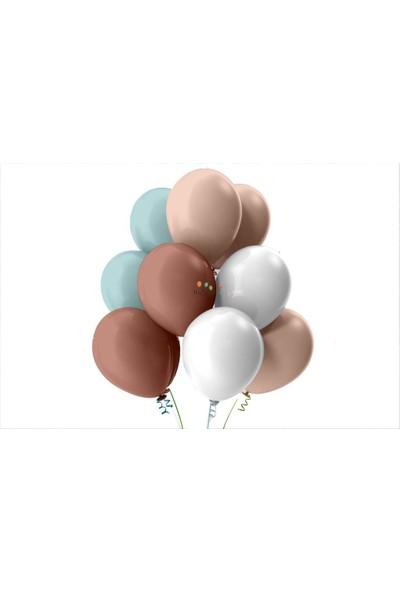 Kullanatparty Mint Yeşili-Beyaz-Rose Gold-Bebek Pembesi Pastel Soft Balon 25 Adet