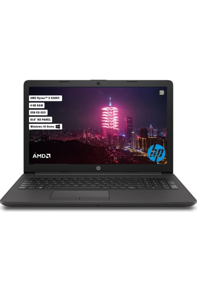 "HP 255 G7 AMD Ryzen3 3200U 4GB 256GB SSD Windows 10 Home 15.6"" HD Taşınabilir Bilgisayar X255F6ES"