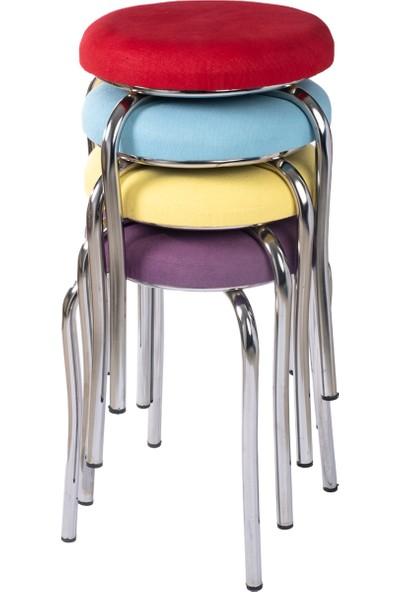 Ekip Shop Tabure Mutfak Sandalyesi Tay Tüyü 4 Adet