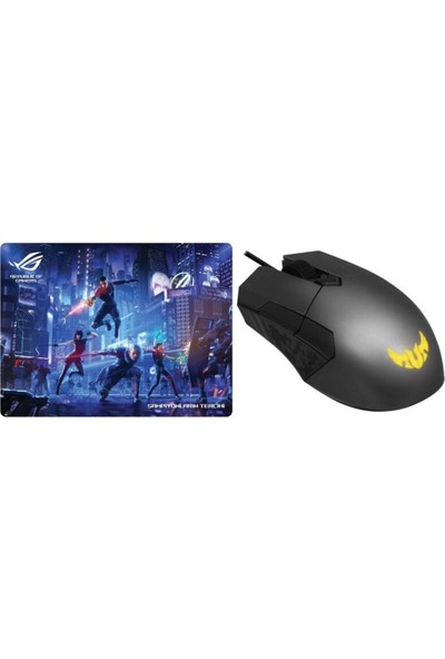 Asus Tuf Gaming M5 Çift El 6200 Dpı Rgb Oyuncu Mouse + Asus Rog Özel Dizayn Kauçuk Taban Gaming Mouse Pad