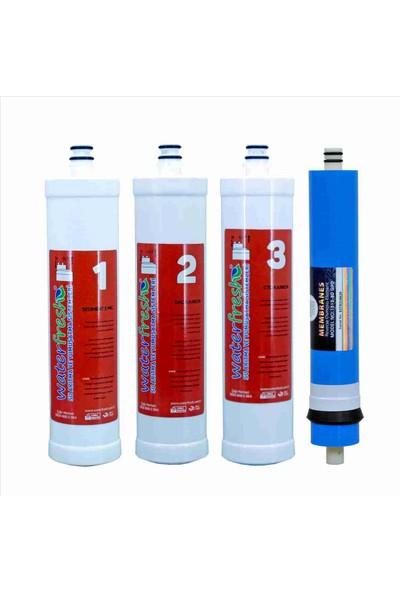 Water Fresh Takçevir 4 Lü Su Arıtma Filtresi (Ince Uçlu)