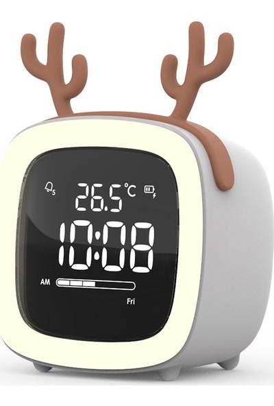 iHome Karikatür LED Elektronik Saat USB Şarj Çok İşlevli Saat (Yurt Dışından)