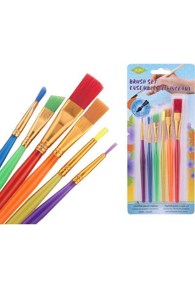 iHome 6'lı Plastik Çocuk Fırçasından Oluşan Renk Seti