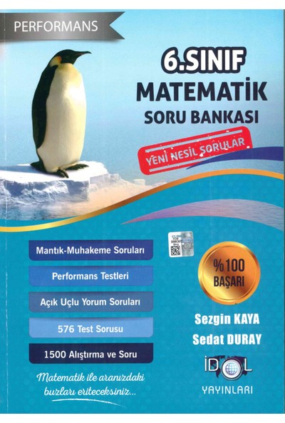 İdol Yayınları 6. Sınıf Matematik Performans Soru Bankası